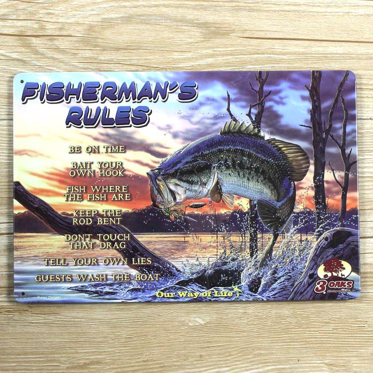 New 2015 About Fishing Ua 0041 Metal Tin Signs Vintage Home Decor For Bar Vintage