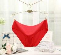 MOONIGHT 1 Pack 9 Colors Sexy Traceless Women Underwear Briefs Thin Comfort Underwear Women Seamless Panties