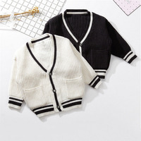 Baby Children Clothing Boys Girls Knitted Cardigan Sweater Wear Kids Solid 100% Cotton Infant Newborn Clothes Outerwear Sweaters