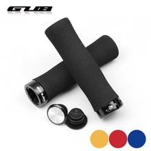 1 pair MTB Bike Grips Sponge/Silicone Bicycle Handlebar Grip Cover Aluminum Gear Lock-on Anti-skid Shock-absorbing Cycling Parts