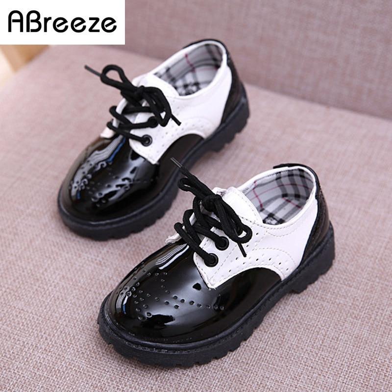 2017 Новий класичний дитячий взуття мода чорний білий 3-8Y діти Мартін чоботи хлопчики дівчаток весна осінь діти шкіряні черевики унісекс