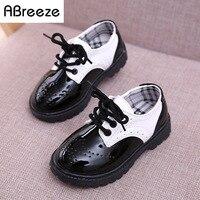 2017 Novos Clássicos infantis sapatos da moda preto branco 3-8A crianças Martin botas meninos meninas primavera outono crianças sapatos de couro unisex