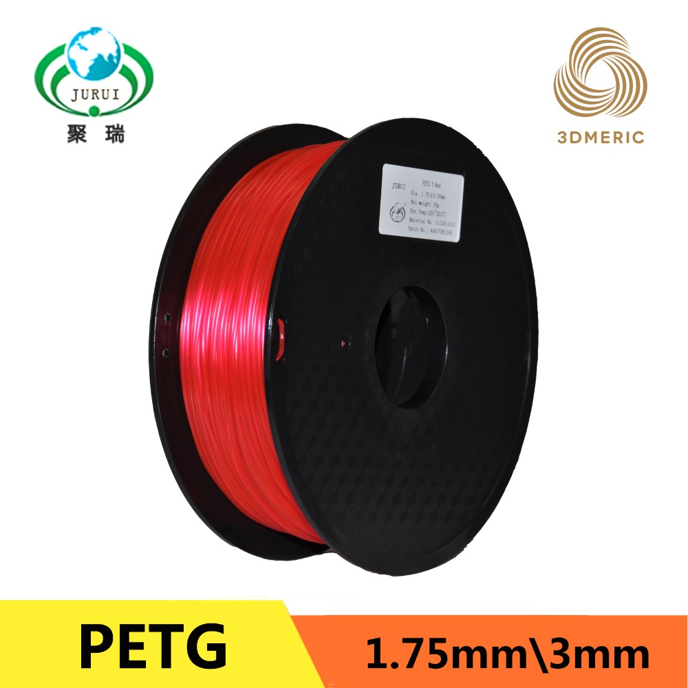 Red 1.75MM 1KG/piece 3D Printer PETG Filament For MakerBot/RepRap/UP Filament Consumables Material 3d printer parts filament for makerbot reprap up mendel 1 rolls filament pla 1 75mm 1kg consumables material for anet 3d printer