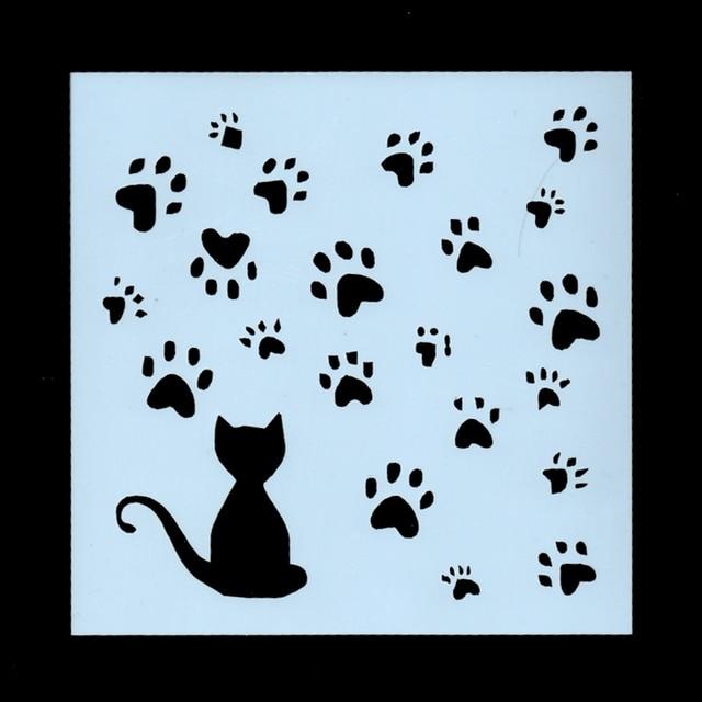 13cm Cute Cat Paw Footprint DIY Craft Layering Stencils Wall Painting Scrapbooking Stamping Embossing Album Card Template