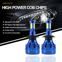 2X H4 H7 LED Headlights 18000LM Car Headlamp Fog Bulb Auto Light For BMW Ford VW