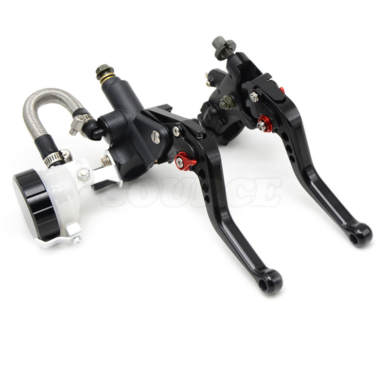 ФОТО free shipping  motorcycle CNC  Aluminum Adjustable brake clutch lever& brake pump  For BMW F650GS 2000 2001 2002 2003 2004-2007