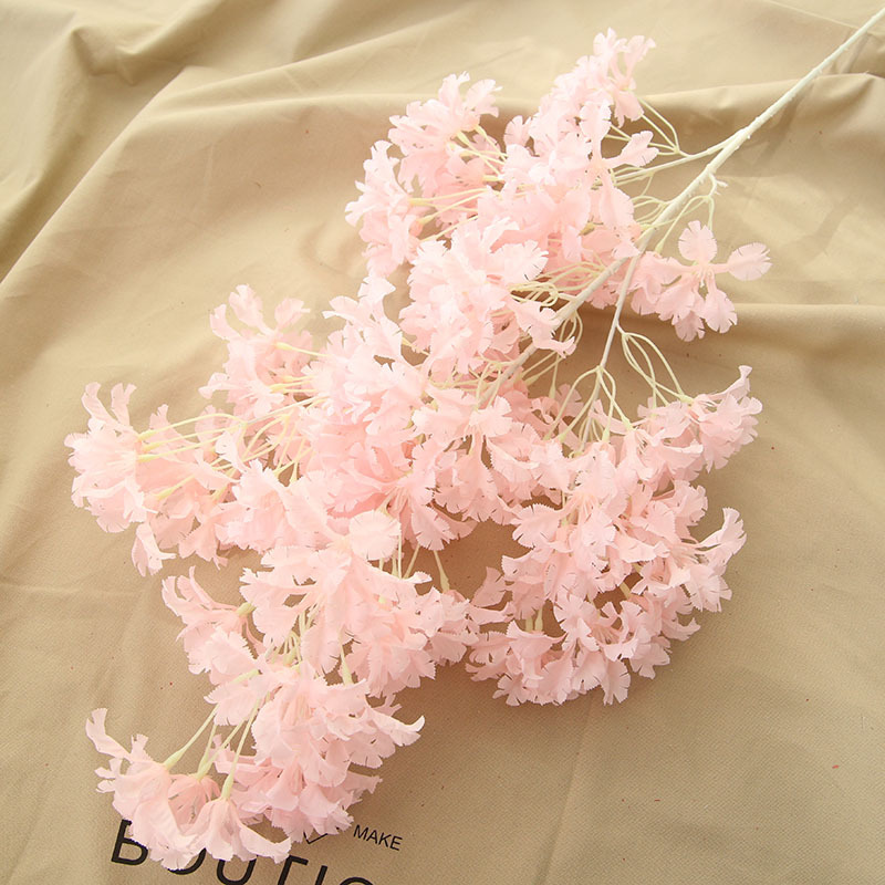Simulation Silk Flower Artificial Cherry Blossom Tree Branch Fake Flowers Roman Column Road Leads for Home Wedding Party Decor
