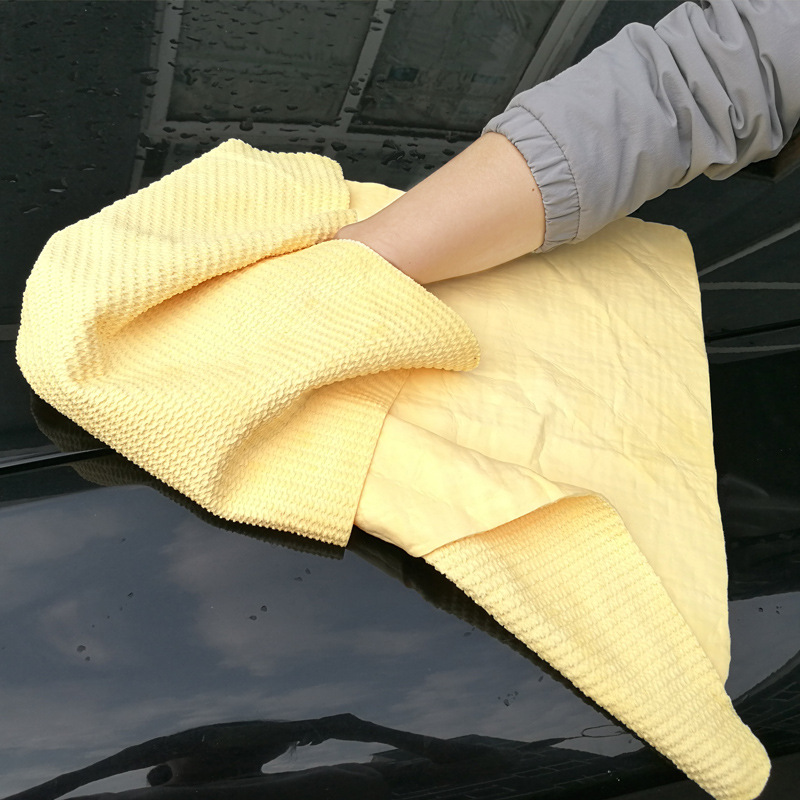 66 43cm Size Car Wash Cleaning Chamois Towel Super Absorbent Car Wash Towel Car Care Tool Household Drying Cloth in Sponges Cloths Brushes from Automobiles Motorcycles