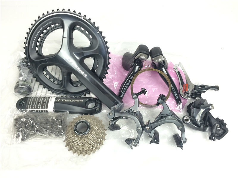 все цены на Shimano 6800 groupsets Ultegra Road Bike Groupset 170/172.5 50-34 50-34 11-28T Bicycle Group Set 2*11 speed in stock онлайн