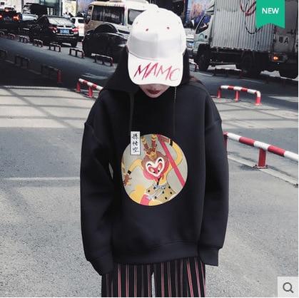Liva fille Harajuku noir sweat à capuche pour femme Sweatshirts hiver épaississement chaud Bts capuche Hip Pop à manches longues pull Streetwear
