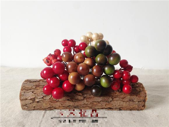 80 X Artificial Mini Berries Christmas Decorations Fake Berry ...