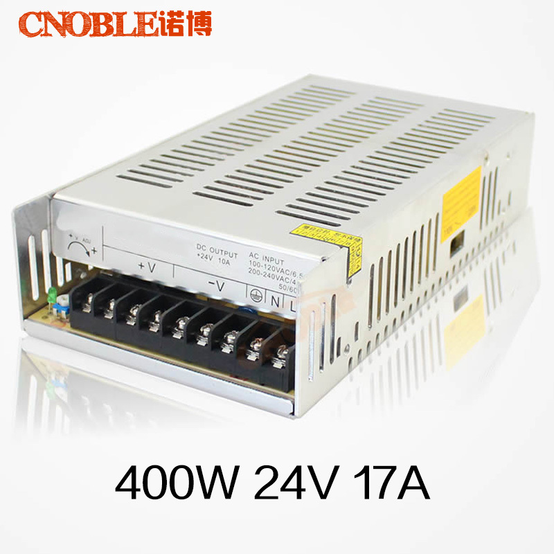 400W 24V 17A Single Output Switching Power Supply for LED light 220v AC to DC smps 20w 24v 1a ultra thin single dc output switching power supply for led strip light smps