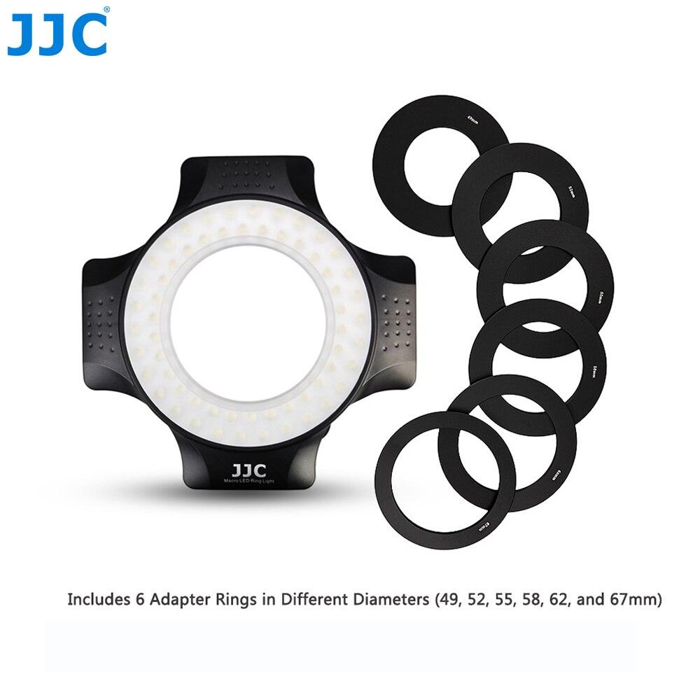 JJC фотостудия DSLR видео вспышка камера Speedlite лампы кольцо свет Макро LED для Nikon Canon Sony Pentax Samsung Olympus Fuji
