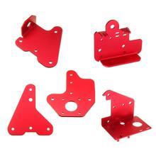 5 pièces Creality 3D extrudeuse plaque arrière + X moteur avant et arrière plaque + z axis 2.5mm & 3.0mm passif bloc plaque Kit pour CR 10S PRO