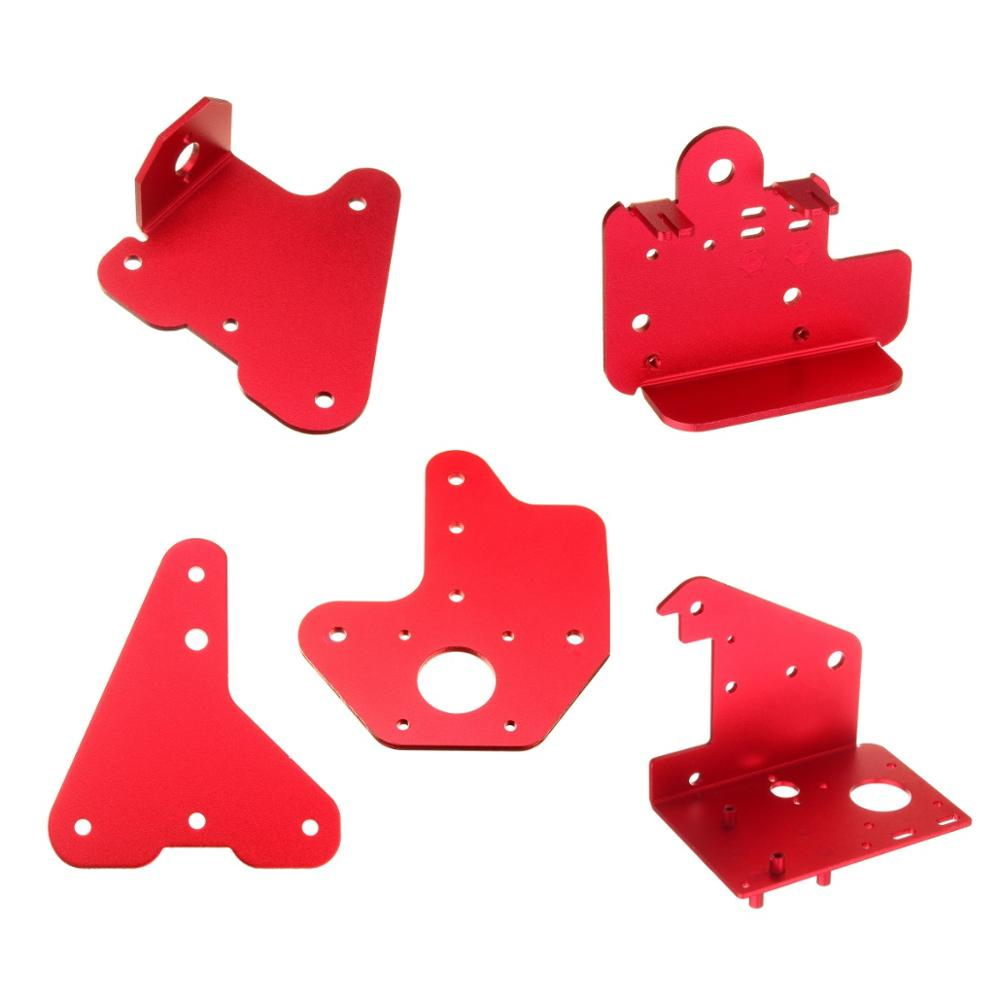 5pcs Creality 3D Extruder Back Plate + X Motor Front & Back Plate + Z-axis 2.5mm & 3.0mm Passive Block Plate Kit For CR-10S PRO
