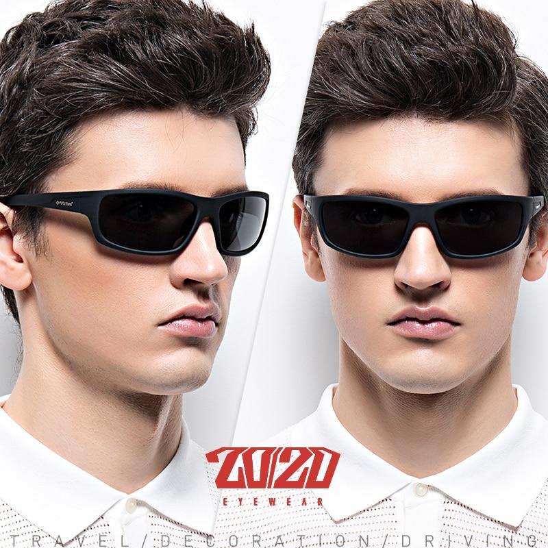 20/20 Optical Brand Design New Polarized Sunglasses Men Fashion Male Eyewear Sun Glasses Travel Fishing Oculos PL66 With Box 3