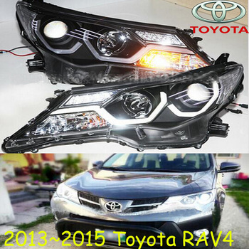 RAV4 headlight,2013~2015,SUV,Free ship! RAV4 fog light,RAV4 Offroad light,2ps/set+2pcs Ballast,rav4 driver light,RAV 4 фото