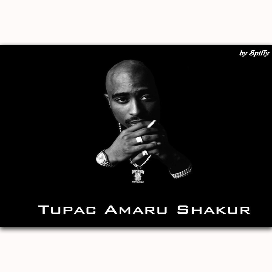 Mq2435 tupac shakur 2pac hip hop music singer star hot new art poster top silk light canvas home decor wall picture printings