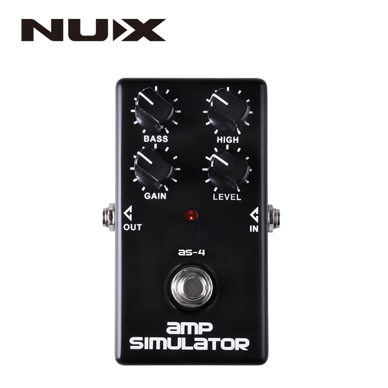 NUX AS-4 Amplifier Simulator Pedal Guitar Electric Effect Pedal True Bypass Black High Quality Guitar Parts and Accessories mooer ensemble queen bass chorus effect pedal mini guitar effects true bypass with free connector and footswitch topper