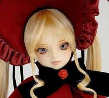 лучшая цена Full Set!Free makeup&eyes included! Shinku shonku Rozen Maiden top quality 1/3 bjd doll manikin clothes wig shoes girl kid gift
