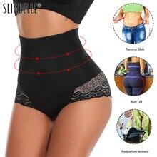 חלקה נשים Shaper גבוהה מותניים הרזיה בטן בקרת תחתוני מכנסיים Pantie תחתוני גוף Shapewear ליידי מחוך תחתונים