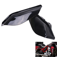 2x Motorcycle Mid Frame Air Deflector Trim In Gloss Black For Harley Touring Trike Street Glide