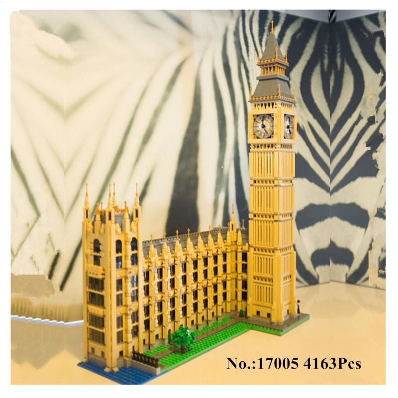 H&HXY IN STOCK 4163pcs 17005 Big Ben Elizabeth Tower Model Building Kits Block Brick DIY Toys lepin Compatible 10253 Child Gifts 3d puzzle metal earth laser cut model jigsaws diy gift world s famous building eiffel tower big ben tower of pisa toys