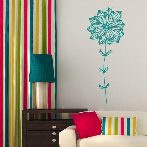 YOYOYU Art Home Decor Flower Wall Sticker Vinyl Decal Bedroom Living Room Nursery Creative Design WW 459 in Wall Stickers from Home Garden