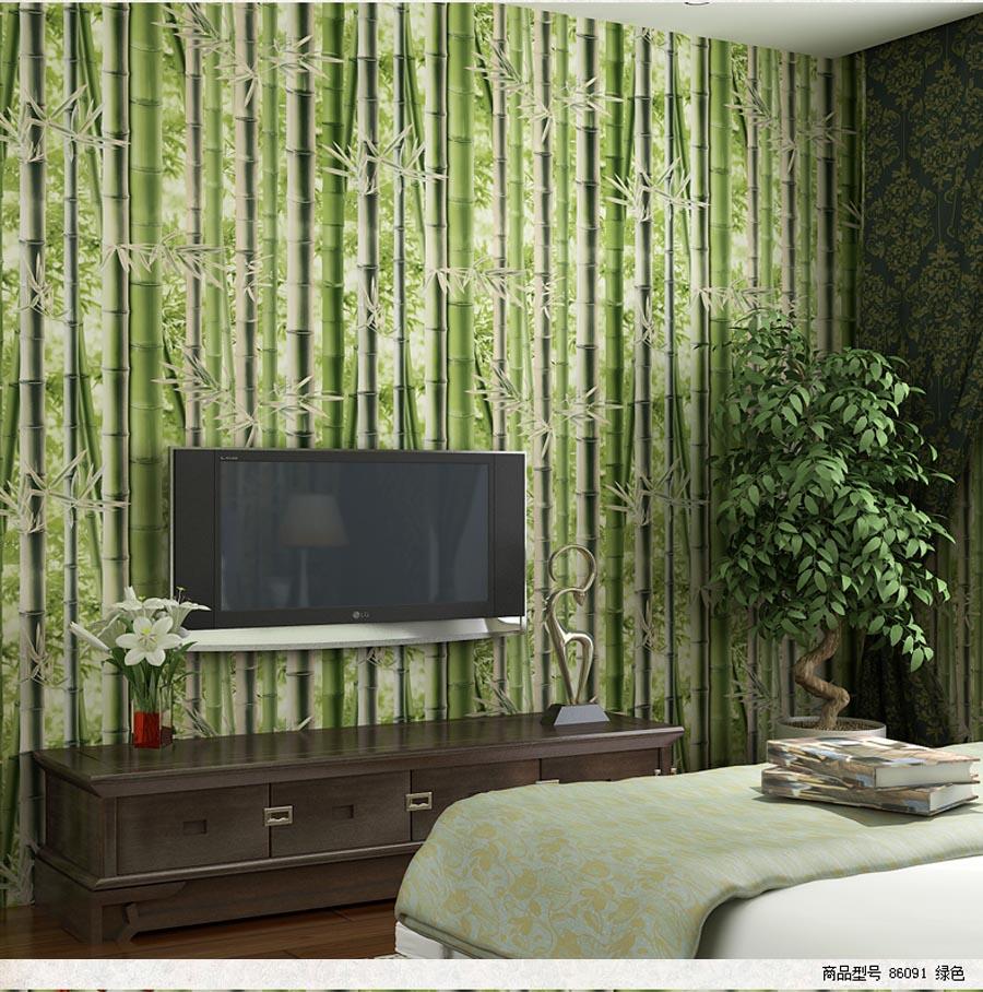Gallery Of Shinehome Vintage Chinesische Bambus Grn Mural Rollen Hintergrund  Tapete D Fr Wohnzimmer Wand Papier D With Bambus Tapet
