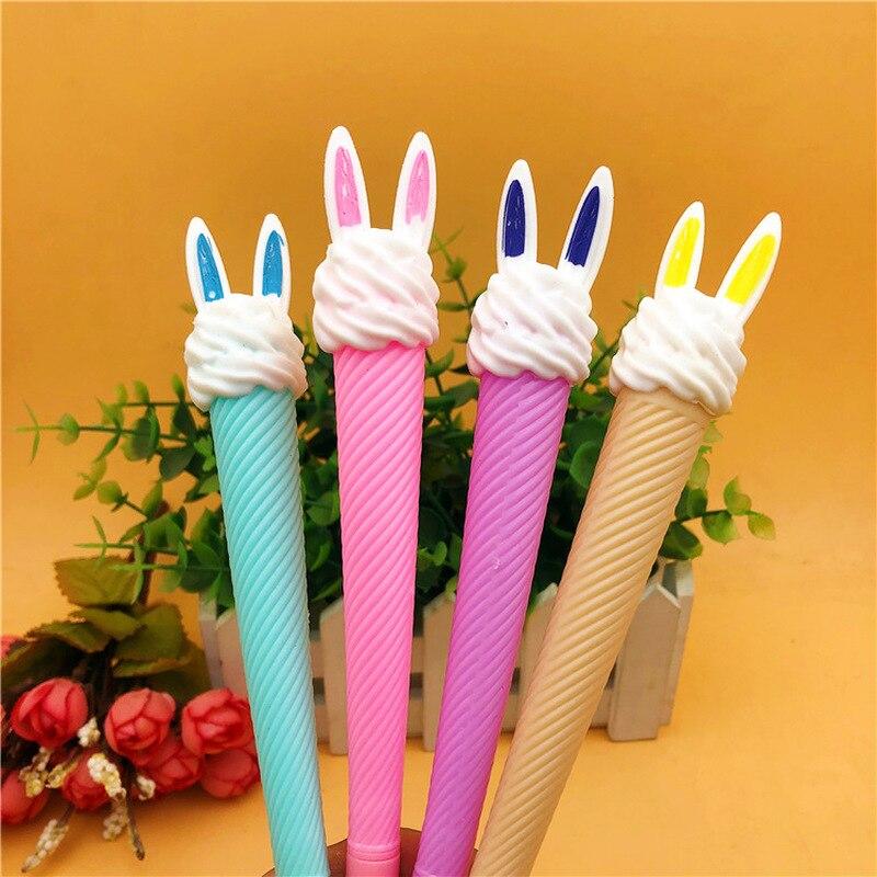 1Pcs Kawaii Rabbit Ice Cream Erasable Gel Pen Cute Pen School Supplies Gel Ink Pen School Stationary Office Suppliers Pen Gift