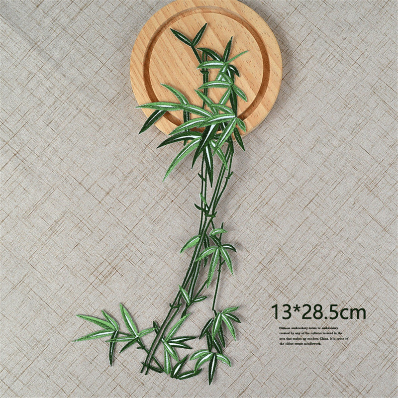 Lovely Bamboo Patch DIY Sew Iron on Applique Clothes Sewing Supplies Craft