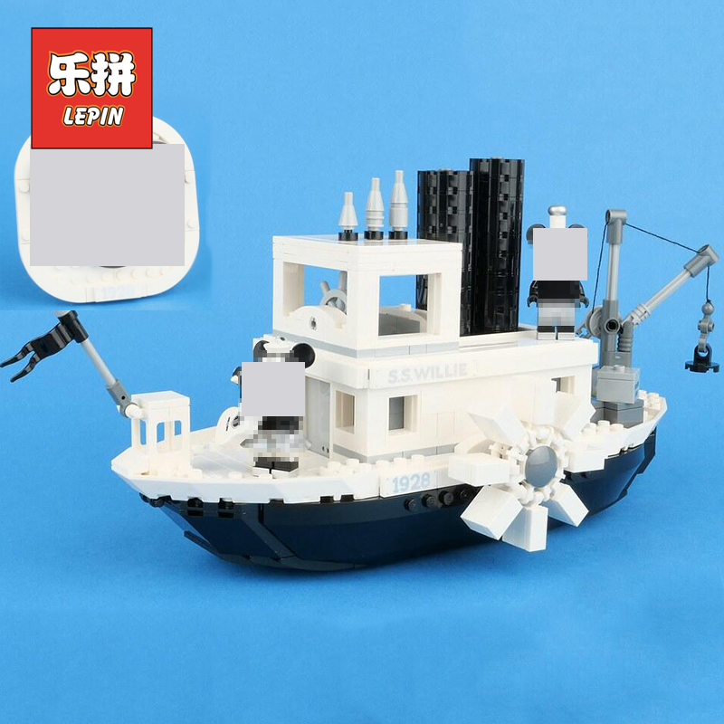 Nouveau Lepin 16062 le dessin animé bateau idées 21317 bateau à vapeur Willie navire modèle blocs de construction Legoinglys créateur jouets enfants cadeaux