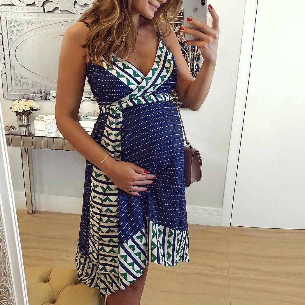 SAGACE Women Pregnant Dress  Maternity  Summer  Solid Beach Dresses For Party Casual  Exotic Dress Sexy Pregnant Dress Summer