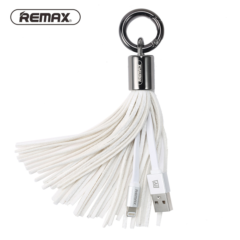 Remax USB Cable Leather Tassel 8pin USB Cable Metal Ring Key Chain Charge Data Cable Cord Charger Cable For iPhone 6 6S For iPad (23)