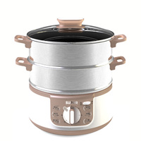 SUPOR ZN28YK808 130 Home Multifunction Electric Steamer Stainless Steel High Capacity Electric Steamer Kitchen Cooking Pot