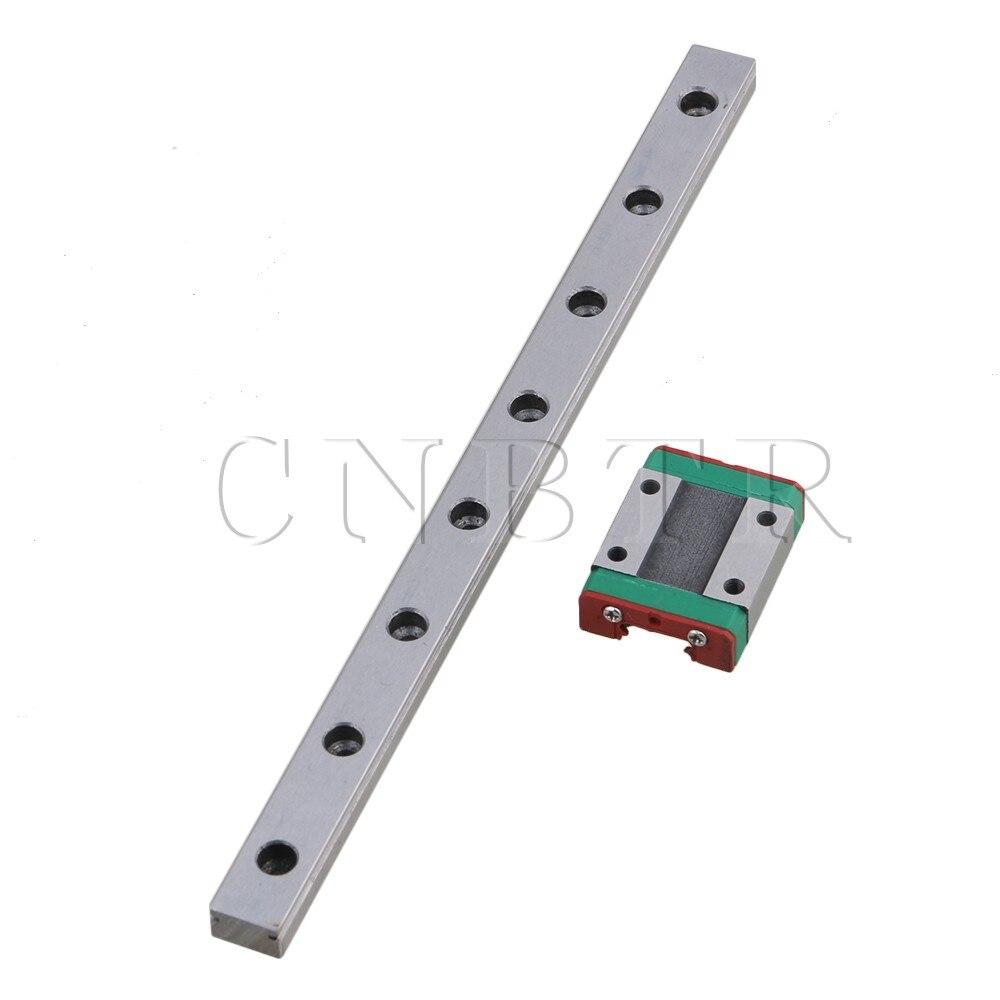 CNBTR 200mm Length Silver MGN12 Precise Bearing Steel Linear Sliding Guide Linear Bearing Slide Rail & Block Set cnbtr 8mm lead screw 40cm linear rail bearing block slide bushing horizontal set