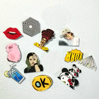 1 PCS Pin Badge Cartoon Acrylic Badges Icons on The Backpack Decoration Brooch Badges for Clothing