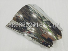 HotSale Freeshipping For Yamaha YZF R25 R3 2013 2014 2015 2016 silver Windshield WindScreen Double Bubble R 25 3 13 14 15 16