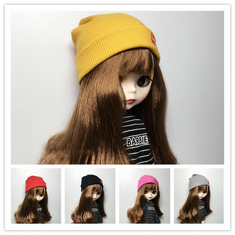 1PCS Cool Fashion Candy Color Knit Hat for blyth doll hats for 1/6 doll accessories