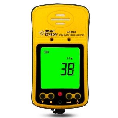 Smart Сенсор AS8907 ручной детекторы угарного газа CO метр тестер как 8907 0 ~ 1000PPM
