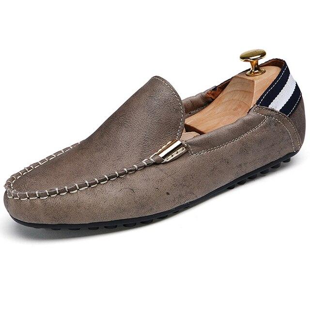 Весна/Лето 2016 Мода Doug Обувь Мужчины Плоским Кожа Вождения Обуви Дышащая Яичный Рулетик Обувь Повседневная Обувь 99 ЗЫХ