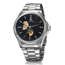 2016NEW Marca OUYAWEI reloj mecánico automático de los hombres reloj militar de acero inoxidable de lujo para los hombres impermeable reloj mujer automatico