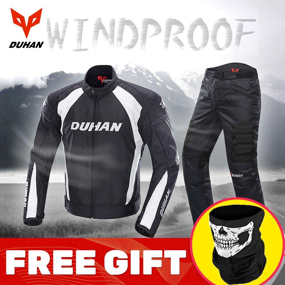 Veste de Moto DUHAN hommes équipement de protection veste de Moto pantalon de Moto coupe-vent résistant au froid