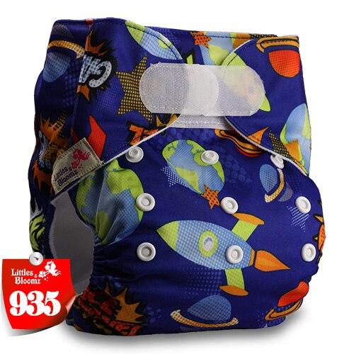 [Littles&Bloomz] Детские Моющиеся Многоразовые, настоящая стандартная ткань, застежка-липучка, карман для подгузников, пеленки, обертывание, подходит для рождения в горшке - Цвет: 935