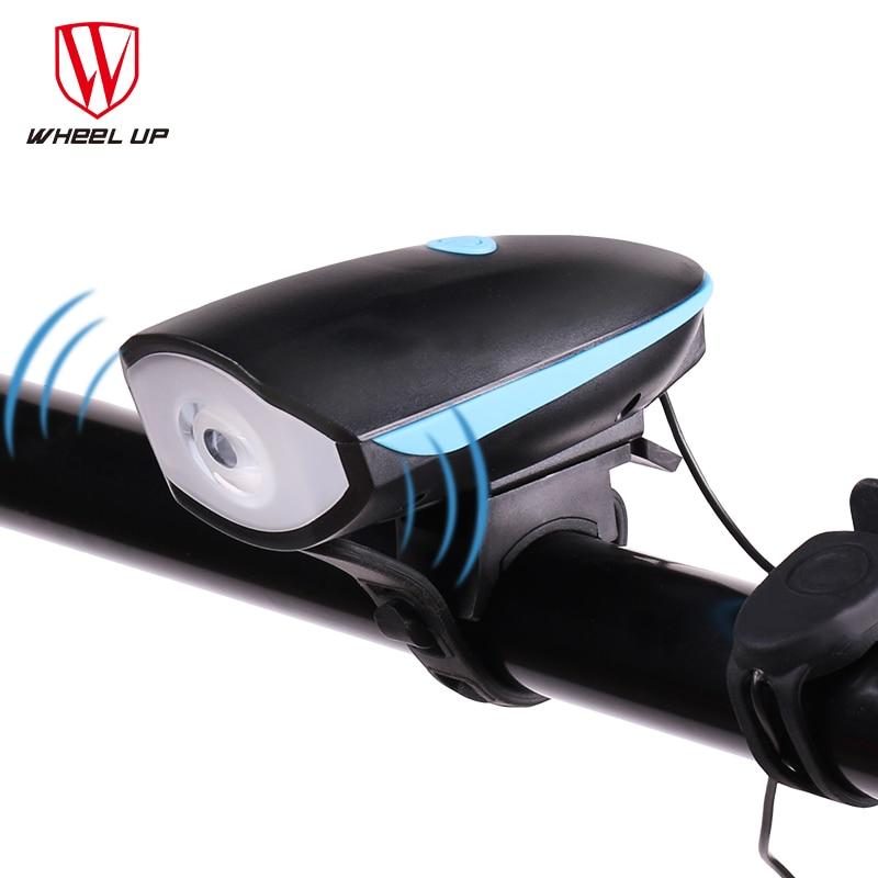 WHEEL UP USB Charging 240 lumen IPX4 Electric <font><b>Horn</b></font> Bicycle Night Riding Warning <font><b>Horn</b></font> Light Bike Head-light Bike Accessory 2017