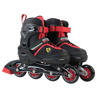 Ferrari Pair Of Roller Skates Durable Adjustable Comfortable Roller Skates PU Wheels Anti Slip Skate Shoes For Adults Kids