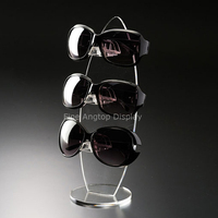 Clear Acrylic 3 Pairs Sunglasses Glasses Show Rack Counter Display Stand Holder