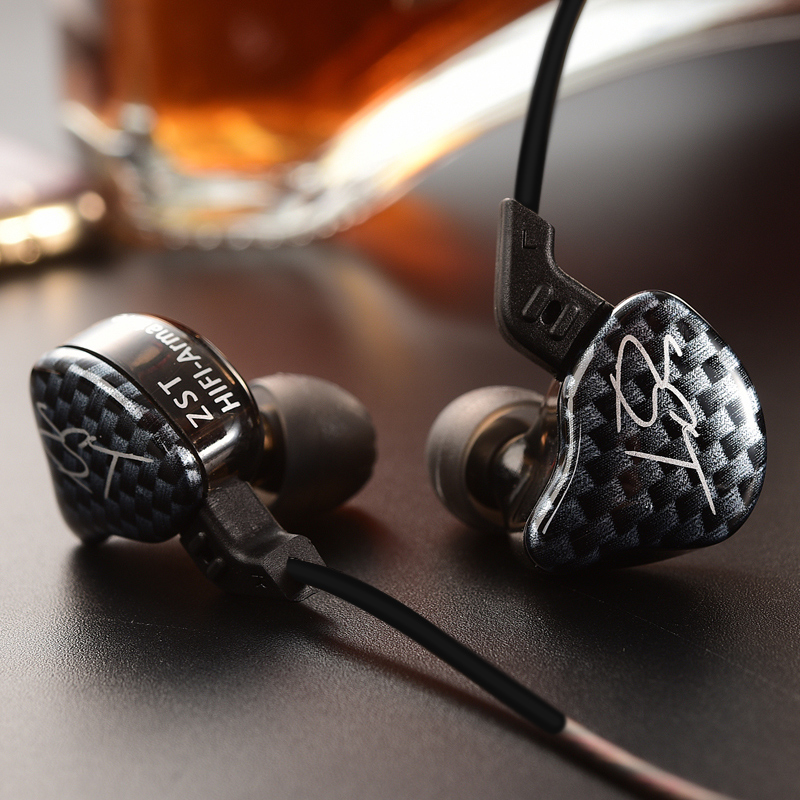 все цены на  KZ ZST Armature Dual Driver Earphone Dynamic Mic Replaceme Cable In Ear Audio Monitors Noise Isolating HiFi Music Sports Earbuds  онлайн