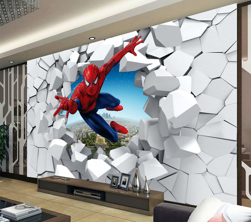 Spiderman Wallpaper Custom Photo Super Hero Wall Mural Boys Bedroom Living Room Nursery School Designer Decor In Wallpapers From Home