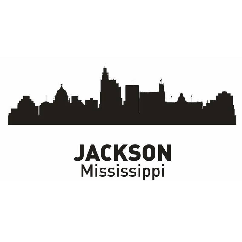 DCTAL JACKSON City Decal Landmark Skyline Wall Stickers